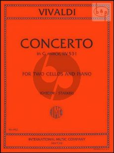 Concerto g-minor RV 531 (F.III n.2) 2 Cellos and Piano