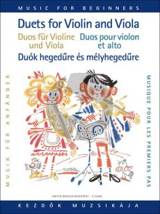 Duets for Violin and Viola for Beginners (edited by Lajos Vigh)