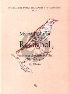 Glinka Rossignol - Variationen Ueber Aljabiews Lied Die Nachtigall Klavier