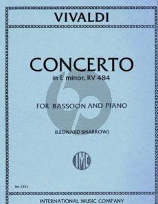 Vivaldi Concerto e-minor RV 484 (F.VIII n.6) Bassoon-Piano (Sharrow)