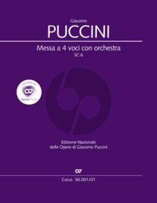 Puccini Messa a 4 Voci (Messa di Gloria) (Soli-Choir- Orch.) (Study Score) (lat.) (edited by Dieter Schickling)