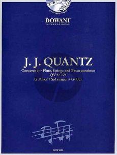 Quantz Concerto G-major QV 5:174 Flute-Strings-Bc Flute and Piano (Bk-Cd) (Dowani)