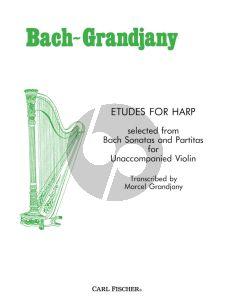 Bach Etudes after Bach Op.45 Harp (transcr. Marcel Grandjany)