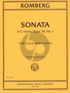 Romberg Sonata E-minor Op.38 No.1 Violoncello-Piano (Solow)