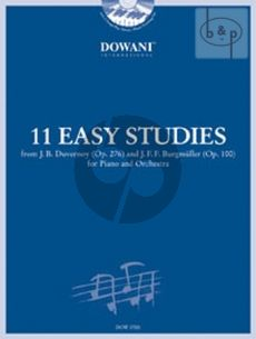 11 Easy Studies from Duvernoy Op.276 and Burgmuller Op.100 (Piano with Orch./ 2 Piano's)