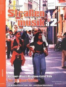 Heger Strassenmusik a 2 Vol. 1 2 Flöten (Klezmer-Blues-Ragtime- Latin and Folk) (Easy)
