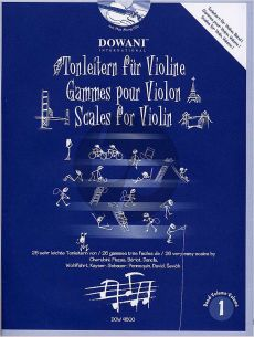 Tonleitern fur Violine Vol.1 (sehr leicht) (Beriot-Cherubini-Dancla-Gebauer-Mazas-Pennequin Wohlfahrt) (Bk-2 CD's)