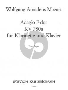 Mozart Adagio F-Dur KV 580A for Clarinet or Flute, Oboe or Violin and Piano (Franz Beyer)