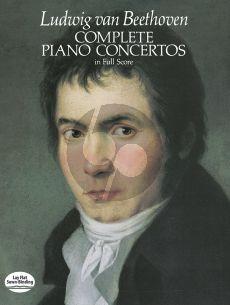 Beethoven Piano Concertos Complete Full Score (Dover)