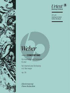 Weber Concertino Es-dur Op.26 (J.109) Clarinet-Orchestra (piano reduction) (Hausswald/Hermann)