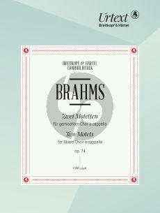 Brahms 2 Motetten Op.74 SATB