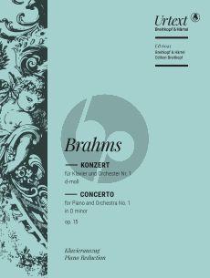 Brahms Konzert No.1 d-moll Op.15 Klavier und Orchester (Ausgabe 2 Klaviere) (Otto Singer)