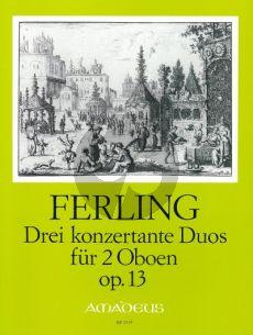Ferling 3 Konzertante Duos Op.13 2 Oboes (Parts)