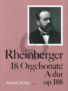 Rheinberger Sonate No.18 A-dur Opus 188 Orgel (Bernhard Billeter)