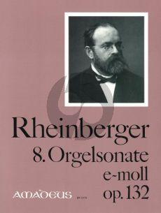 Rheinberger Sonate No. 8 e-moll Opus 132 Orgel (Bernhard Billeter)
