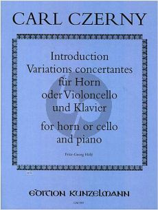Czerny Introduction, Variations Concertantes Horn[Vc.]-Klavier (Fritz Georg Höly)