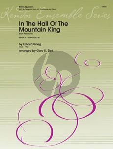 Grieg In The Hall Of The Mountain King (from Peer Gynt) 2 Trumpets, Horn in F, Trombone and Tuba (Score/Parts)