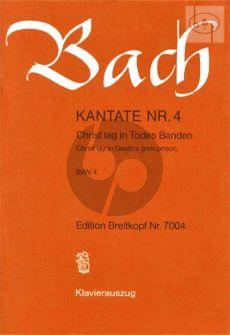 Bach Kantate No.4 BWV 4 - Christ lag im Todes Banden (Christ lay in Death's grim prison) (Deutsch/Englisch) (KA)