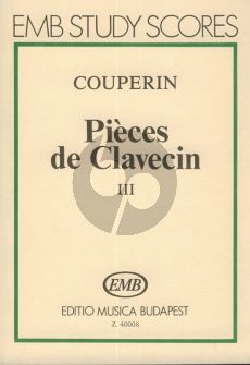 Couperin Pieces de Clavecin Vol.3 Study Score (Jozsef Gat)
