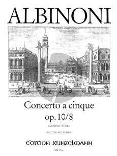 Albinoni Concerto g-moll Op.10 / 8 Violine-Streicher-BC (Partitur) (Walter Kolneder)