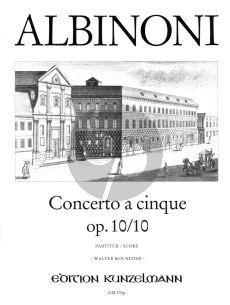 Albinoni Concerto C-Dur Op.10 / 10 Violine-Streicher-Bc (Partitur) (Walter Kolneder)