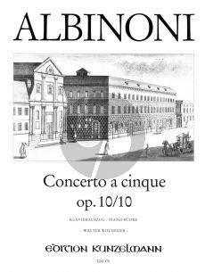 Albinoni Concerto C-Dur Op.10 / 10 Violine-Streicher-Bc (Klavierauszug) (Walter Kolneder)
