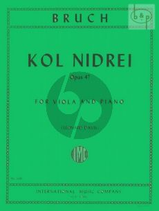 Bruch Kol Nidrei Op.47 Viola-Piano (Davis)