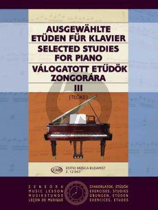 Selected Studies Vol. 3 for Piano