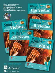 Speel Viool Vol.1 (Pianobegeleiding bij de liedjes) (Bk-Cd) (arr. R.Kernen)