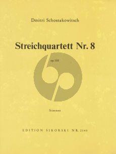 Shostakovich Streichquartett No.8 Op.110 Stimmen
