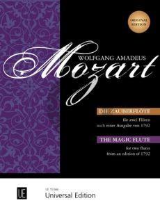 Mozart Die Zauberflote 2 Flöten nach einer Ausgabe von 1792)