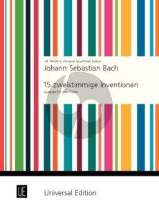Bach 15 zweistimmige Inventionen 2 Flöten (arr. Peter Kolman)