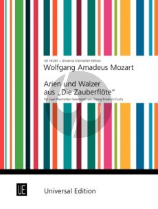 """Mozart Arien und Walzer aus """" Die Zauberflöte"""" 2 Klarinetten (Fuchs)"""