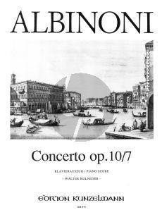 Albinoni Concerto F-dur Op.10 / 7 Violine-Streicher-Bc (Klavierauszug) (Walter Kolneder)