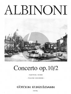 Albinoni Concerto g-moll Op.10 / 2 Violine-Streicher-Bc (Partitur) (Walter Kolneder)
