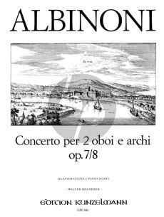 Albinoni Concerto D-dur Op.7 No.8 2 Oboen und Streichorchester (Klavierauszug) (Walter Kolneder)