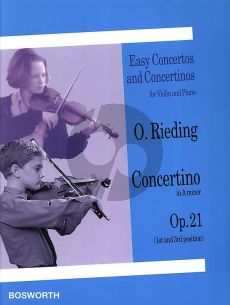 Rieding Concertino a-minor Op.21 (Hungarian Style) (1st- 3rd Position) (Bosworth)