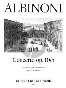Albinoni Concerto A-dur Op.10 / 5 Violine-Streicher-Bc (Klavierauszug) (Walter Kolneder)