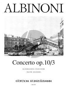 Albinoni Concerto C-dur Op.10 / 3 Violine-Streicher-Bc (Klavierauszug) (Walter Kolneder)
