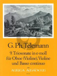 Telemann Trio Sonata e-minor TWV 42:e5 Oboe[Fl./Vi.]-Violin-Bc)
