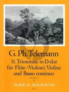 Telemann Trio Sonata D-major TWV 42:D17 Flute[Vi.]-Violin[Ob.]-Bc