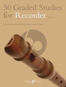 Adams-Harris 50 Graded Studies for Descant Recorder