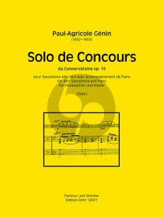 Genin Solo de Concours du Conservatoire Op.13 Altsaxophon und Klavier (hrsg. von Christoph Dohr)