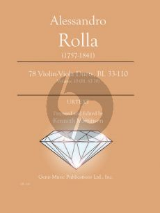Rolla 78 Duets Volume 10 BI. 67 - 70 Violin - Viola (Prepared and Edited by Kenneth Martinson) (Urtext)