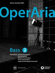 OperAria Vol.2 Lyric-dramatic Bass (Book with CD and MP3) (edited by Peter Anton Ling)