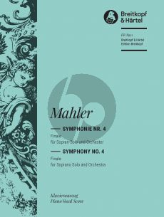 Mahler Symphony No. 4 Finale Soprano and Orchestra (Vocal Score) (edited by Christian Rudolf Riedel)