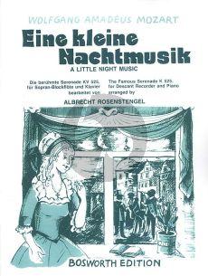 Mozart Eine Kleine Nachtmusik G-Dur KV 525 Sopranblockflote und Klavier (arr. Albrecht Rosenstengel)