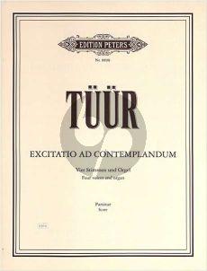 Tüür Excitatio ad Contemplandum 4 Voices [ATTB] - Organ Score (1959)