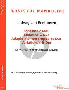 Beethoven 4 Stucke WoO 43 und 44 Mandoline und Cembalo (Vinzenz Hladky)