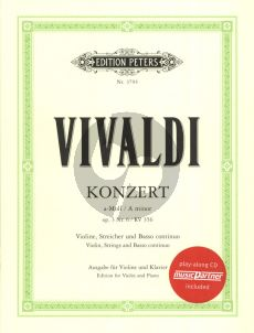 Vivaldi Konzert a-Moll Op.3 No.6 RV 356 Violine und Klavier Buch mit Cd (Kuchler/Klengel)